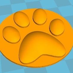 Impresiones 3D gratis huella de gato, robinwood87000