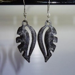 3D printing model Earrings, robinwood87000