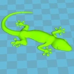 gecko 7,5cm lisse.JPG Download free STL file gecko • 3D printer model, robinwood87cnc