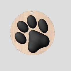 Download free 3D printer templates cat footprint, robinwood87cnc