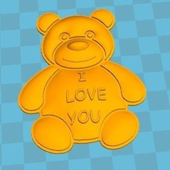 Free 3D model love bear, robinwood87000