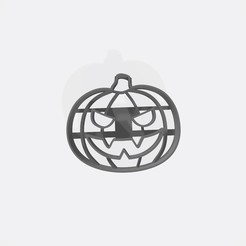 Download STL pumpkin halloween cookie cutter - Pumpkin haloween cookie cutter, Gatopardo