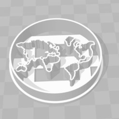 Download 3D printing files World map (world map) cookie cutter, Gatopardo