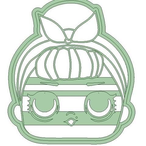 Lol.jpg Download STL file Lol x 4 cookie cutter - LOL cookie cutter • 3D printable template, Gatopardo