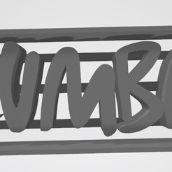 Download 3D printing designs Zumba logo Letters - Cookie cutter - cookie cutter, Gatopardo