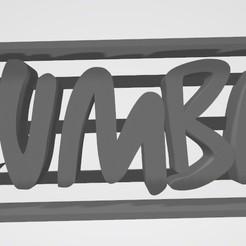 Descargar modelos 3D Logo zumba Letras - Cookie cutter - Cortante de galletita, Gatopardo