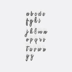Abecedario stamp - 2 cm - Candice.jpg Télécharger fichier STL Timbre fondant ABC - Petit timbre alphabet - alphabet - alphabet • Design imprimable en 3D, Gatopardo