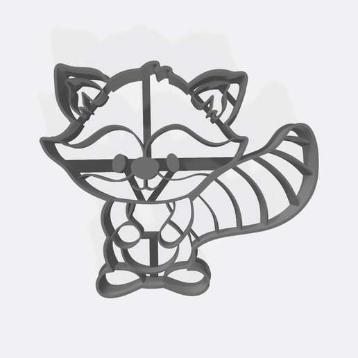 "Download STL files Animals of the forest ""Mapache"" cookie cutter - Cortante de galletita, Gatopardo"