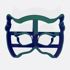 Download STL file PJ MASK - Ululette cookie cutter / cookie cutter • 3D printable design, Gatopardo
