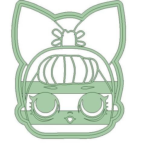 caar LOL2.jpg Download STL file Lol x 4 cookie cutter - LOL cookie cutter • 3D printable template, Gatopardo