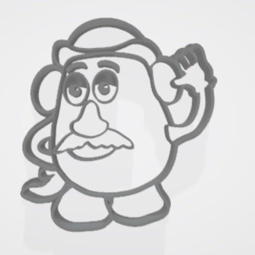 Descargar modelos 3D para imprimir Sr. Cara de papa (mr potato) cookie cutter / cortatne de galletita, Gatopardo
