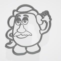 Télécharger plan imprimante 3D Sr Cara de papa (mr pomme de terre) emporte-pièce / cortatne de galletita, Gatopardo