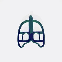 Download 3D printer designs PJ MASK - Geeko cookie cutter / cookie cutter, Gatopardo