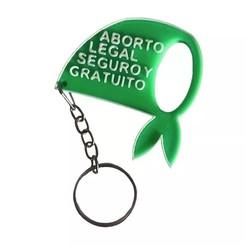 Descargar modelos 3D para imprimir Llavero aborto legal - keychain, Gatopardo