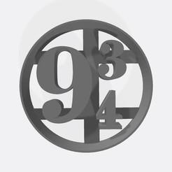 9 3-4.jpg Télécharger fichier STL Plate-forme 9 3/4 - Harry Potter - emporte-pièce / Cortante de galletita • Objet pour imprimante 3D, Gatopardo