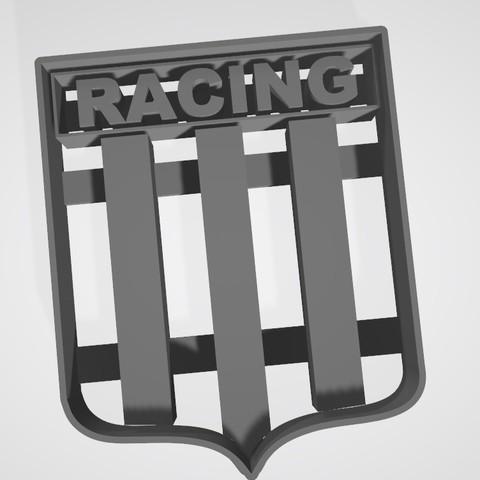 3D printer models Coat of arms Racing Club de Avellaneda (argentina) Cookie cutter, cookie cutter, Gatopardo
