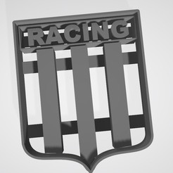 3D printer models Coat of arms Racing Club de Avellaneda (argentina) Cookie cutter, cookie cutter, Gatopardo