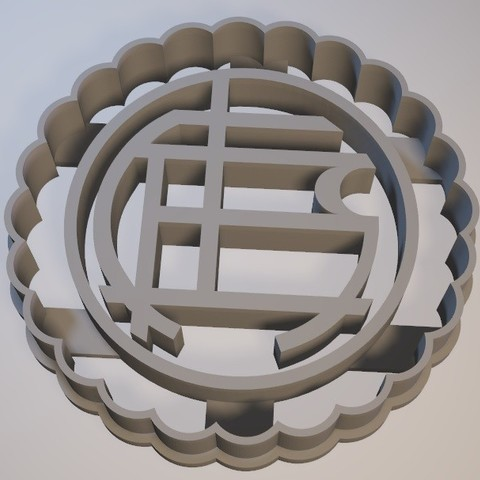 3D print model Lanus Coat of Arms - Argentina / cookie cutter - Cortante de galletita, Gatopardo