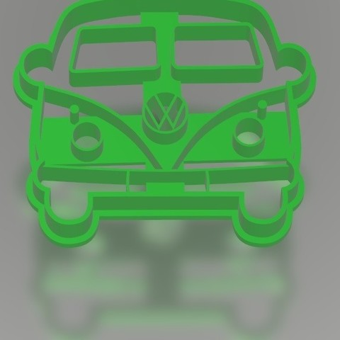 Download 3D printing designs VW Combi - Cookie cutter / cookie cutter, Gatopardo