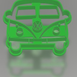 Combi.jpg Download STL file VW Combi - Cookie cutter / cookie cutter • 3D printer model, Gatopardo