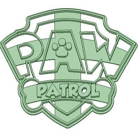 Paw Patrol Cookie Cutter Logo