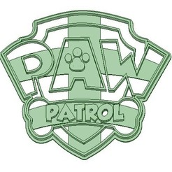 3D printer files Paw Patrol Cookie Cutter Logo, Gatopardo