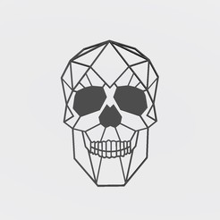 Download 3D print files Low Poly Skull - Deco and design, Gatopardo