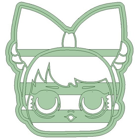 Lol3.jpg Download STL file Lol x 4 cookie cutter - LOL cookie cutter • 3D printable template, Gatopardo
