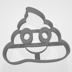 emoji caca.jpg Download STL file Emoji caca - Cookie cutter / cookie cutter • 3D print template, Gatopardo