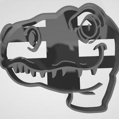 3D printing model T - Rex cookie cutter / Cortante de Galletitas, Gatopardo