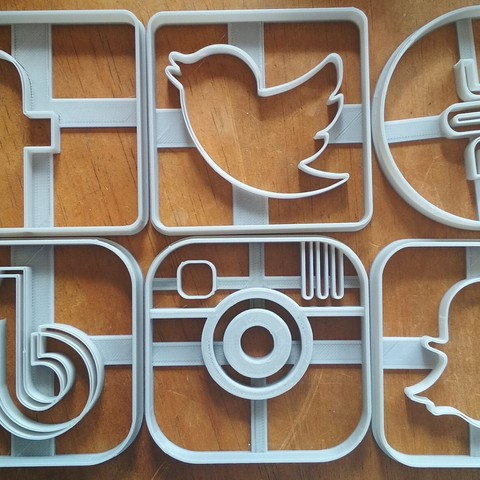 3D printing model Social Networks / social networks - Cookie cutter - Cookie cutter, Gatopardo