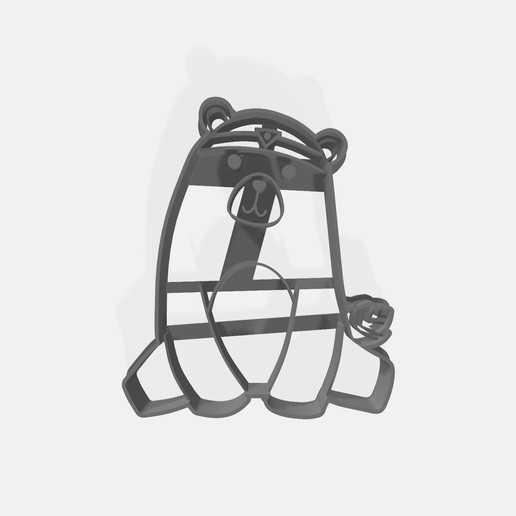 Download 3D printing files Nordic bear - Theme forest animals - cookie cutter / Cortante de galletita, Gatopardo