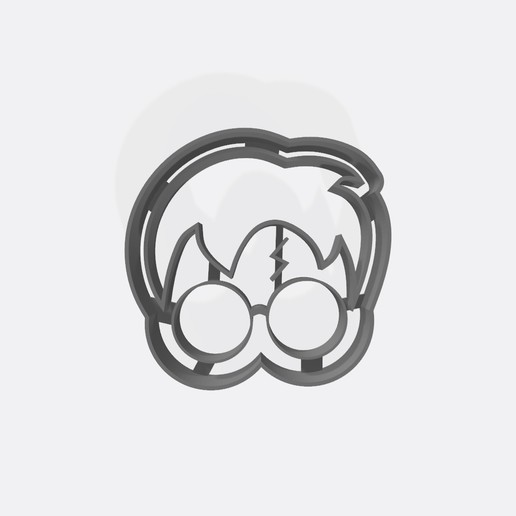 Download 3D printing designs Harry Potter - Cookie cutter icon, Gatopardo