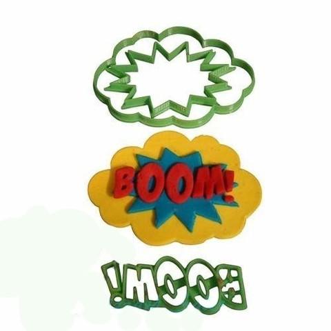 3D printer files comic Boom - cookie cutter (Separate), Gatopardo