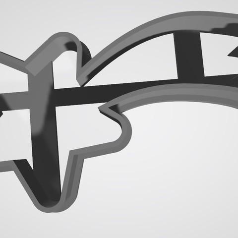 3D print model Shooting Star / cookie cutter, Gatopardo