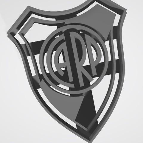 3D printer models River Plate Shield (Argentina) - Cookie cutter, Gatopardo