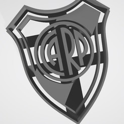 3D printer models River Plate Shield (Argentina) - Cookie cutter, Gatopardo