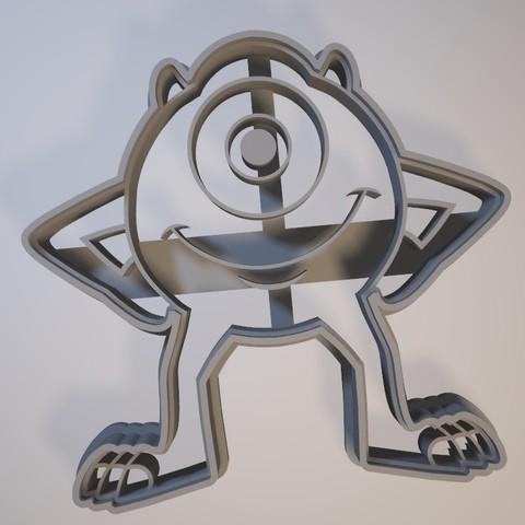 3D printing model Mike Wazowski - Cookie cutter / cookie cutter, Gatopardo