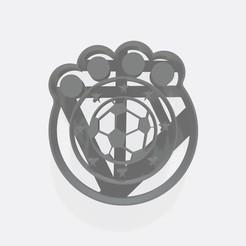 Download 3D printer designs Soccer ball to paint cookie cutter - Cortante de galletita, Gatopardo