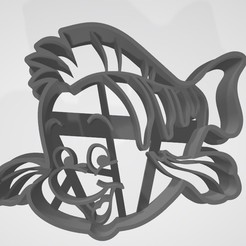 3D printer files Flounder (The Little Mermaid) - Cookie cutter / cookie cutter, Gatopardo
