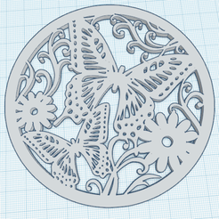 0.png Download free STL file Butterflies in a circle • 3D print object, oasisk