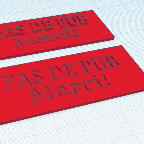 Télécharger fichier imprimante 3D gratuit Pas de Pub, Merci!, oasisk
