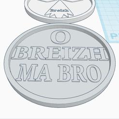 Impresiones 3D gratis COASTER O BREIZH MA BRO, oasisk