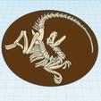 1.png Download free STL file Velociraptor fossil • 3D printing model, oasisk