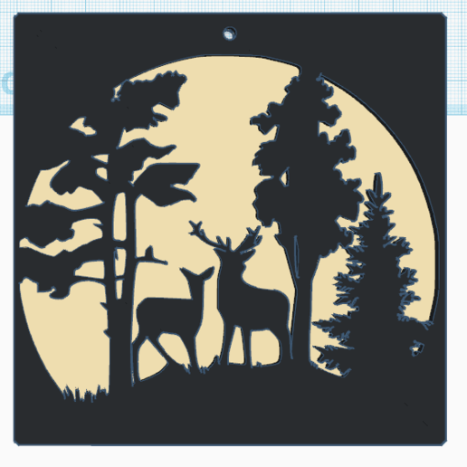 Download free 3D model Deer and Deer in the Moonlight, oasisk