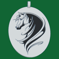 0_1.png Download free STL file Head of Horse pendant • 3D printable object, oasisk