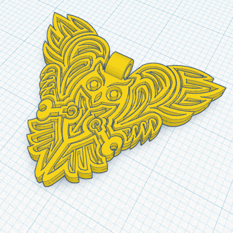 Chouette_Pendentif.png Download free STL file OWL OWL Pendant and Wall Decoration • 3D printing object, oasisk