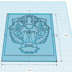 Download free STL TIGER, oasisk