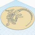 2.png Download free STL file Velociraptor fossil • 3D printing model, oasisk
