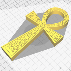 Download free STL Egyptian Cross, oasisk